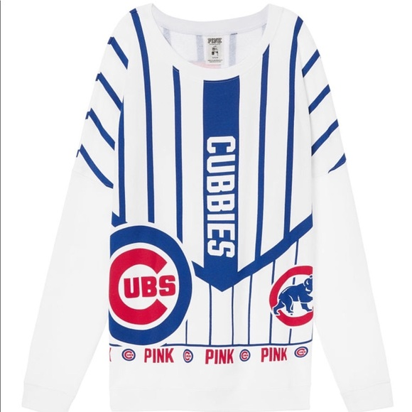 759e9c8b980 PINK CHICAGO CUBS VARSITY CREW!